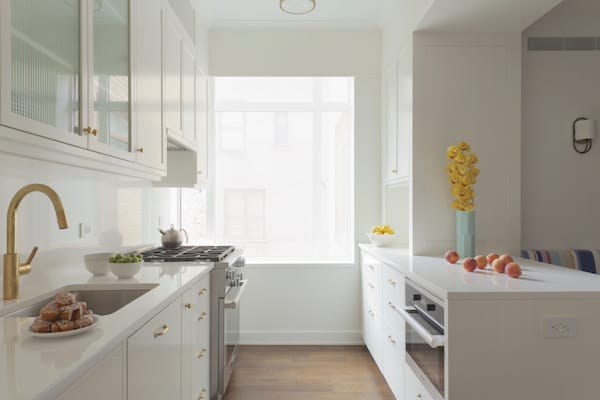 custom white kitchen cabinetry